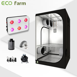 Eco Farm 4'*4' Essential  600W LED Grow Package for 4 Plants