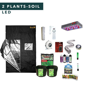 3' X 3' LED Soil Complete Indoor Grow Tent Kits for 2 Plants