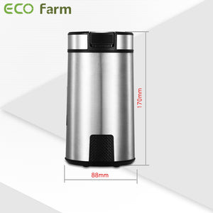 Eco Farm Electric Weed Spice Grinder with Stainless Steel Blade