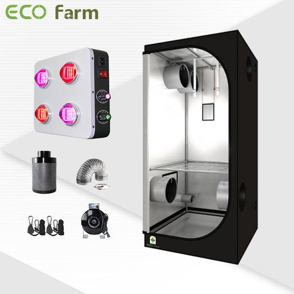 Eco Farm 3'*3' Essenital LED Grow Package for 2 Plants