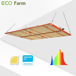 ECO Farm ECOT 120W/240W/480W Dimmable Samsung LM301H Quantum board LED Grow Light with UV&IR