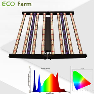 ECO Farm 740W Full Spectrum Slim Foldable LED Grow Light With Separately UV+IR Control