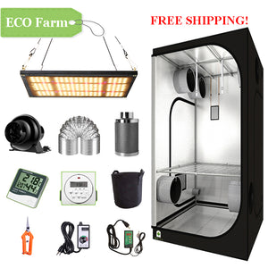 ECO Farm 2'x2' Complete Grow Tent Kit - 120W LM301H Quantum Board-growpackage.com