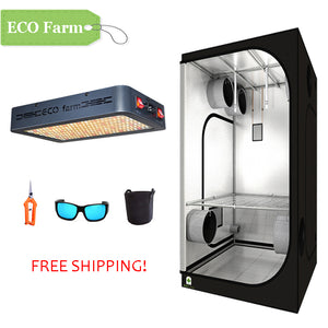 ECO Farm 3'x3' Essential Grow Tent Kit - 216W LED Grow Panel