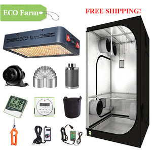 ECO Farm 2'x2' Complete Grow Tent Kit - 120W LED Grow Panel-growpackage.com
