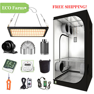 ECO Farm 2'x2' Complete Grow Tent Kit - 120W LM301B Quantum Board-growpackage.com