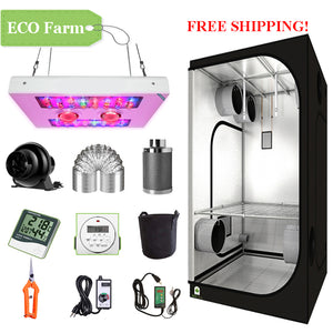 ECO Farm 2'x2' Complete Grow Tent Kit - 440W LED Grow Light-growpackage.com
