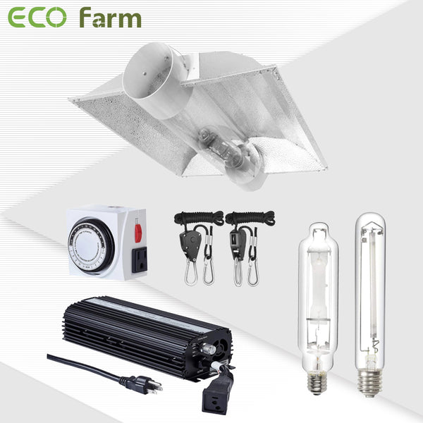 ECO Farm 400W HPS/MH Horticulture Cool Tube Reflector Grow Light System Kits-growpackage.com