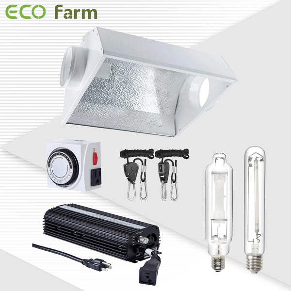 "ECO Farm 600W HPS/MH 6""Air Cooled Grow Light System Kits-growpackage.com"