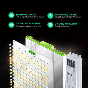BESTVA P1000/P2000/P4000 Quantum LED Grow Light with Samsung LM301B Diodes & MeanWell Driver Dimmable Grow Lights