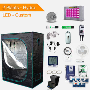 LED Hydroponic Complete Indoor Grow Tent Kits for 2 Plants