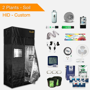 HID/T5 Soil Complete Indoor Grow Kits for 2 Plants