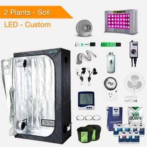 LED Soil Complete Indoor Grow Tent Kits for 2 Plants