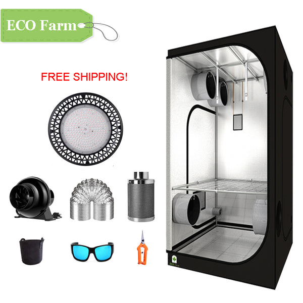 ECO Farm 3'x3' Essential Grow Tent Kit - 200W UFO Grow Light