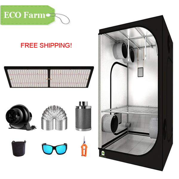ECO Farm 3.3'x3.3' Essential Grow Tent Kit - 240W LM301B Quantum Board