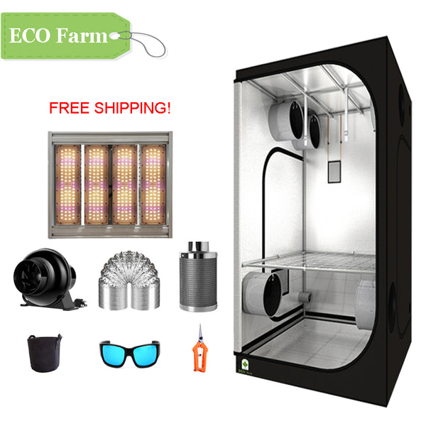 ECO Farm 3'x3' Essential Grow Tent Kit - 240W Waterproof Grow Panel