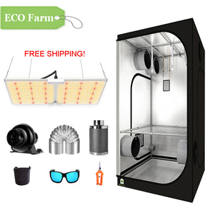 ECO Farm 3'x3' Essential Grow Tent Kit - 220W LM301B Waterproof Quantum Board