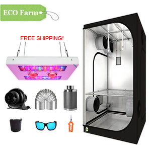 ECO Farm 3.3'x3.3' Essential Grow Tent Kit - 440W COB LED Grow Light-growpackage.com