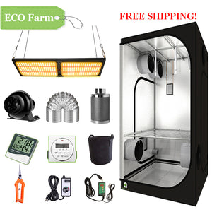 ECO Farm 3'x3' Complete Grow Tent Kit - 240W LM301B Quantum Board