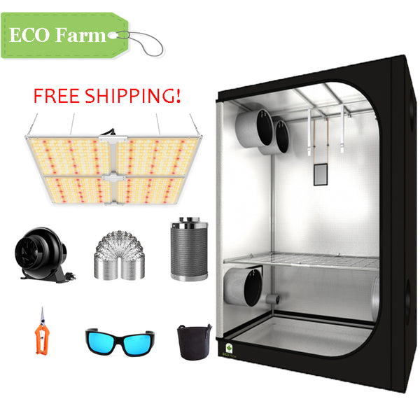 ECO Farm 4'x4' Essential Grow Tent Kit - 450W LM301B Waterproof Quantum Board