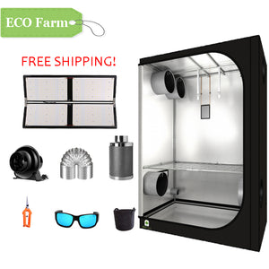 ECO Farm 4'x4' Essential Grow Tent Kit - 480W LM561C Quantum Board