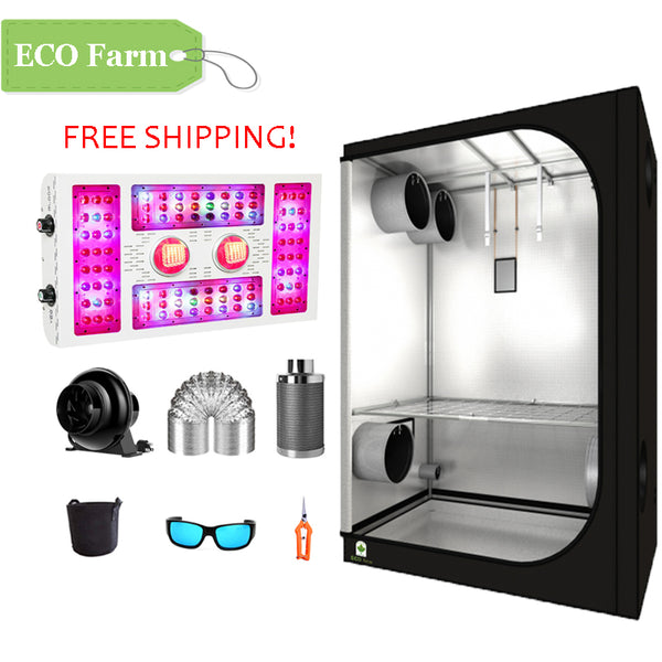 ECO Farm 4'x4' Essential Grow Tent Kit - 680W COB LED Grow Light