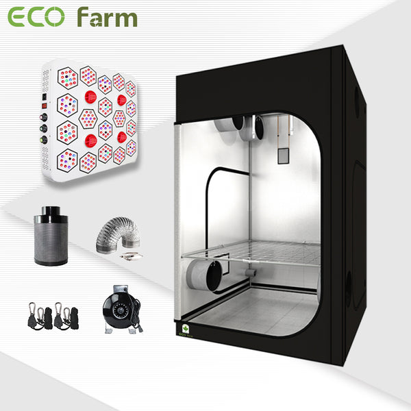 Eco Farm 5'*5' Essential 1660W LED Grow Package for 6 Plants
