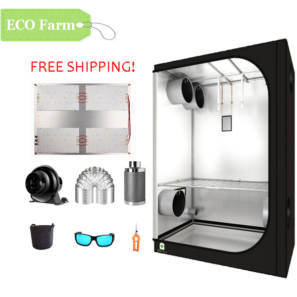 ECO Farm 5'x5' Essential Grow Tent Kit - 480W V3 LM301H Quantum Board