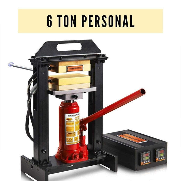 "6 Ton Personal Rosin Press - 3x5"" Heated Platens & Replaceable Bottle Jack Included - 500 Watts 