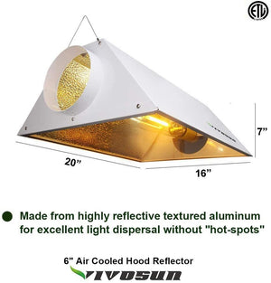 VIVOSUN HPS/MH Grow Light Air Cooled Reflector Kit