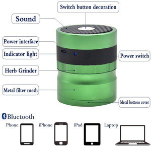 ECO Farm Bluetooth Audio Aluminum Alloy 4-layer Herb Grinder-growpackage.com