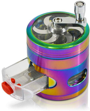 ECO Farm Herb Grinder Rainbow Spice Grinder with Drawer-growpackage.com