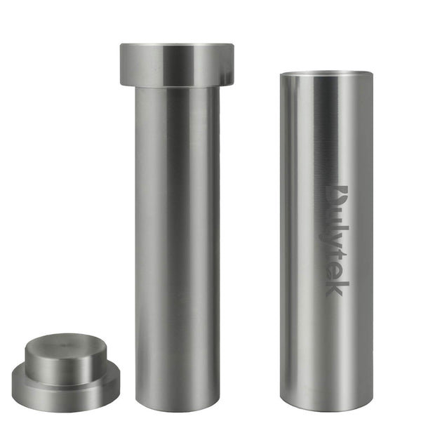 "Dulytek Hammer Style Pollen/Herb Press - Cylinder Food-Grade Stainless Steel - Large Size - 4.5"" Height, 22mm Inner Diameter"