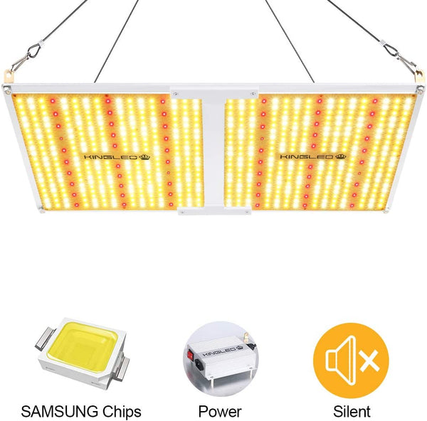 King Plus UL Series 2000W LED Grow Light Full Spectrum Plants Lights for Indoor Veg and Flower Growing Lamp(620 Samsung LED Chips)