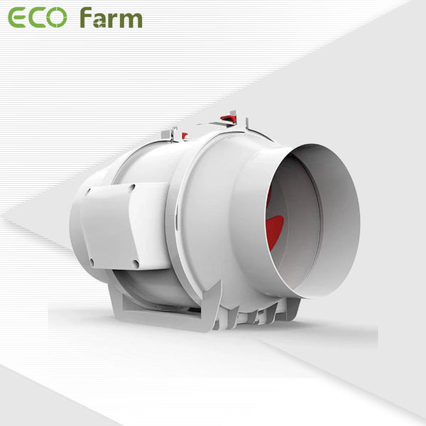 "ECO Farm 4""/6""/8""Ventilation Exhaust In-line Fan (White)-growpackage.com"