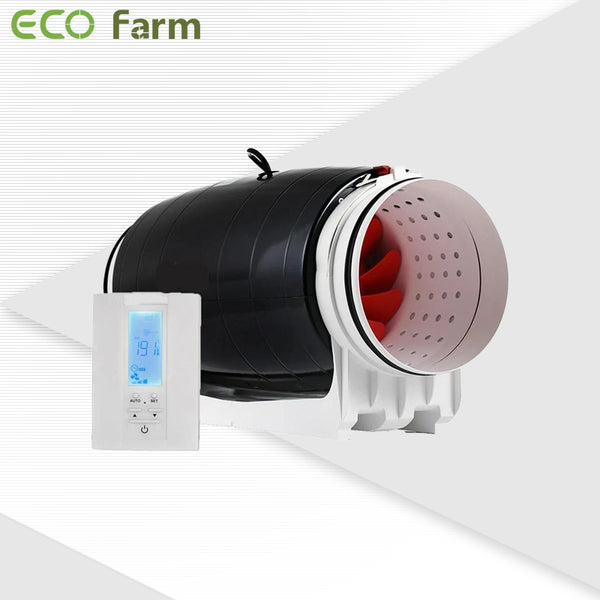 ECO Farm 4/6/8 Inch Super Quite Smart Sensor Inline Duct Fan-growpackage.com