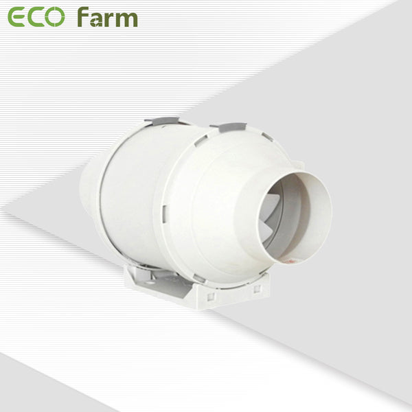 ECO Farm 4/6/8 Inch In-line Fan Exhaust and Intake Fan for Grow Room-White