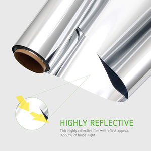 VIVOSUN Horticulture Highly Reflective Mylar Film Roll 4FT X 25FT 2 Mil