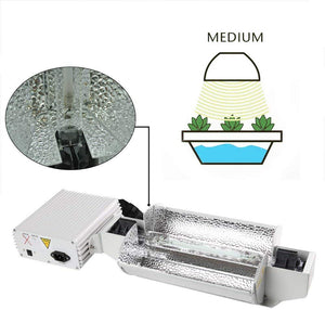 iPower 1000W Double Ended Grow Light System Kits for Indoor Plants includes 1000 Watt DE HPS Bulb and Adjustable Reflector and Digital Dimmable Ballast 240V