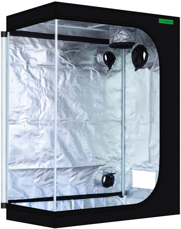 "VIPARSPECTRA 48""x24""x60"" Reflective 600D Mylar Hydroponic 4'x2' Grow Tent for Indoor Plant Growing (120 x 60 x 150cm)"