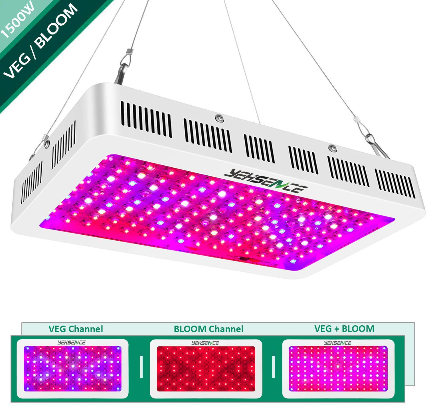 Yehsence 1500w Full Spectrum Led Grow Light For Veg And Flower Supplie Growpackage Com