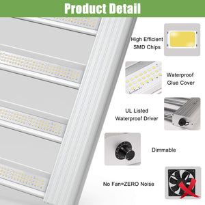 Phlizon 2020 Pro Series 2000W Full Spectrum LED Grow Lights for Indoor Plants
