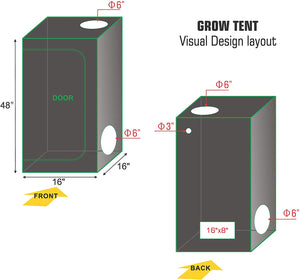 ECO Farm 1.3x1.3FT(16*16*48inch) Hydroponic Indoor Grow Tent-growpackage.com