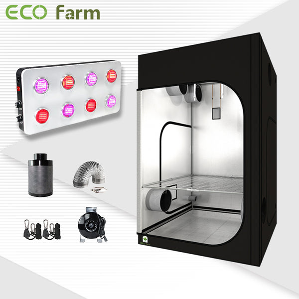Eco Farm 5'*5' Essential 800W LED Grow Package for 6 Plants