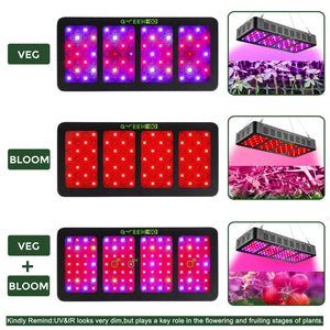 GREENGO 1200W 3 Chips LED Grow Light