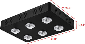 "Hydropics 1200w cob Led Grow Light Full Spectrum for Hydroponics Greenhouse Indoor Plant Veg and Flower System 48""x24""x60"" and 48""x48""x80"" Grow Tent Kits and Package"