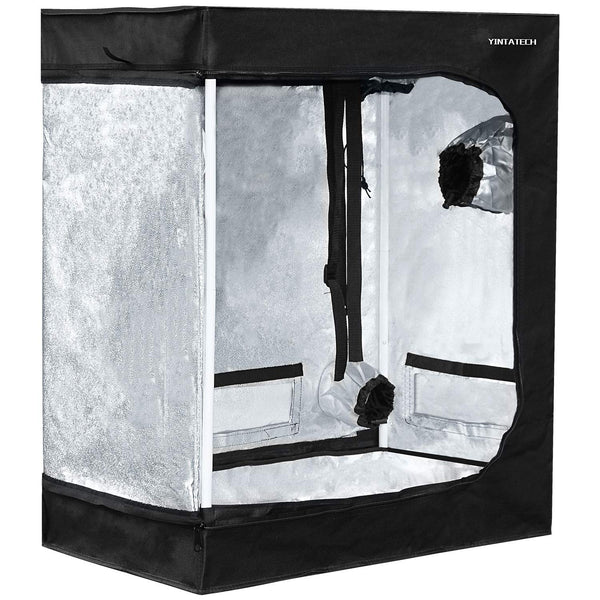 "YINTATECH 30""x18""x36"" Plant Grow Tent, Reflective Mylar 600D Oxford Fabric Growing Room, with Waterproof Floor Tray, for Indoor Gardening Hydroponic Plant Germination Growing"