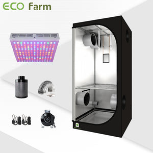 Eco Farm 3'*3' Essential 300W LED Grow Package for 2 Plants
