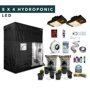 8' X 4' LED Hydroponic Complete Indoor Grow Tent Kits for 8 Plants