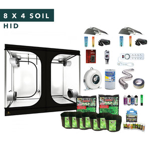 8' X 4' HID Soil Complete Indoor Grow Tent Kits for 8 Plants